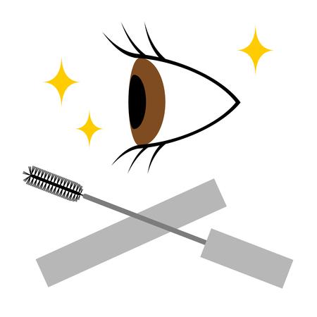 Mascara is put on its eye.