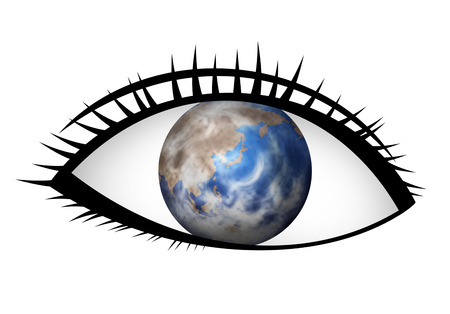 An eye and the earth are synthesized.