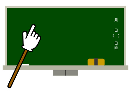 Blackboard and a stick Stock Photo