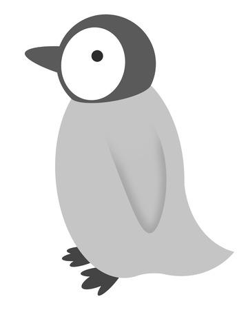 Chick of an emperor penguin Stock fotó