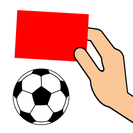 Red card of soccer.