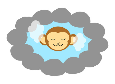 Monkey in hot springs