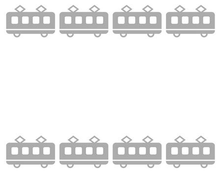 Frame on the train Stock fotó