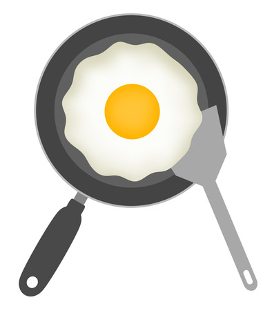 Sunny-side up is cooked.