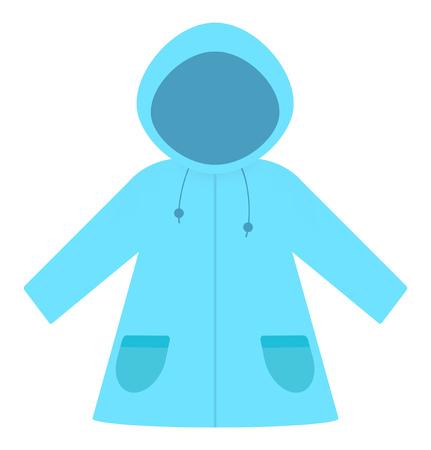 Light-blue raincoat Stock fotó
