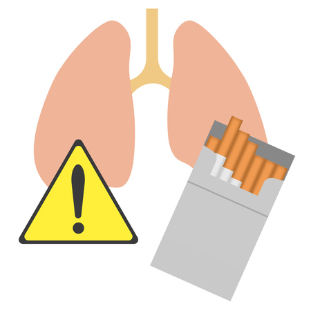 Warning to a cigarette