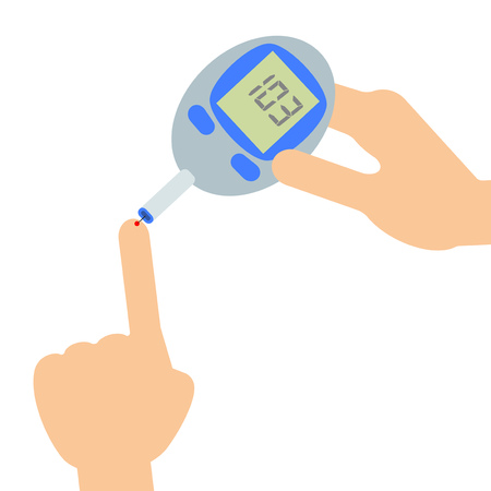 Blood sugar level measuring machine