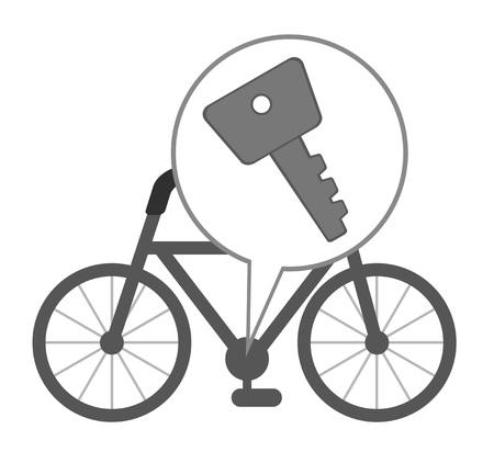 Key of the bicycle Stock fotó