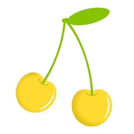 Yellow cherry 写真素材