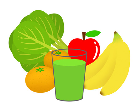 Vegetables and fruit green Smoothie.
