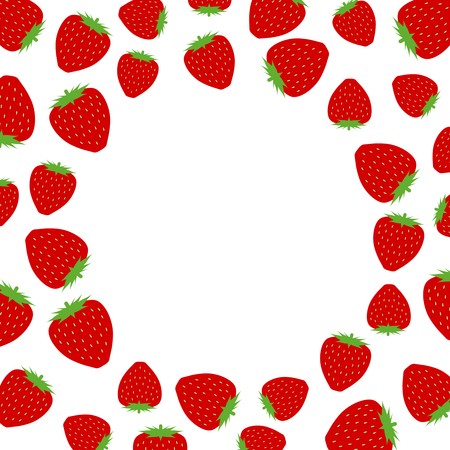 Frame of the strawberry 写真素材