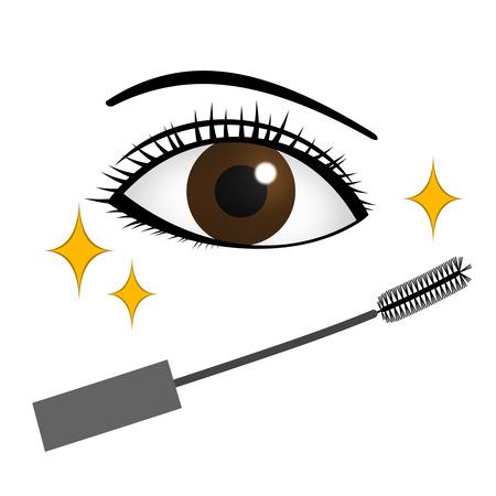 Eye makeup by mascara. 写真素材