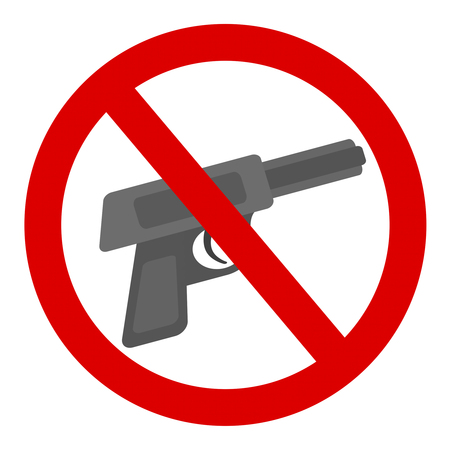 Gun possession prohibited mark 写真素材