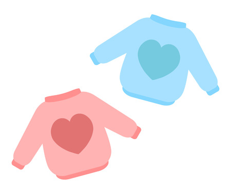 Pink and blue clothes Stockfoto