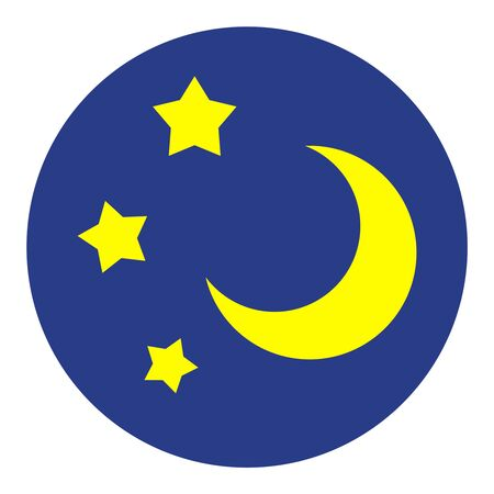 Crescent and a star