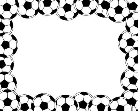 Frame of the soccer ball Imagens