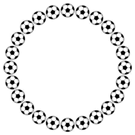 Frame of the soccer ball 写真素材