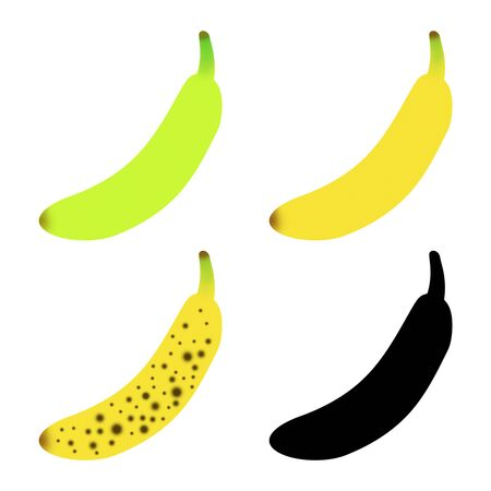 The color of the banana