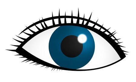 Blue eye Фото со стока