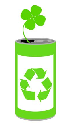 Recycling of a can