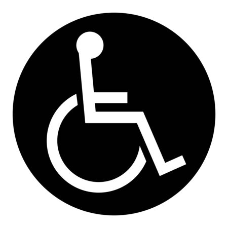 Mark of a wheelchair