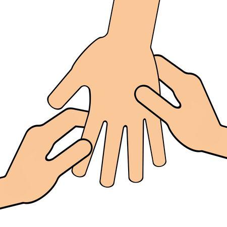 Massage of a hand Standard-Bild