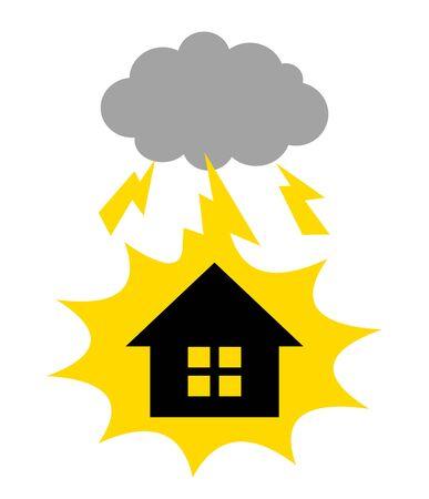 Thunder falls at home. Banco de Imagens