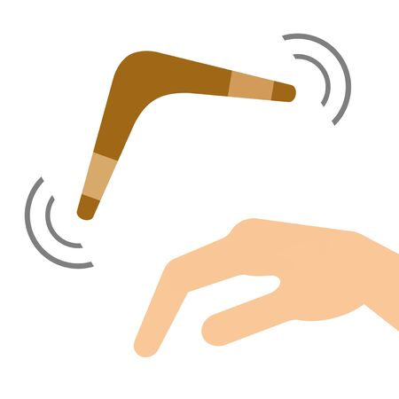 The hand which throws a boomerang.