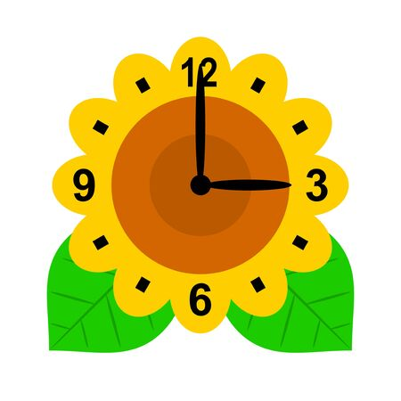 Clock of a sunflower Stock Photo