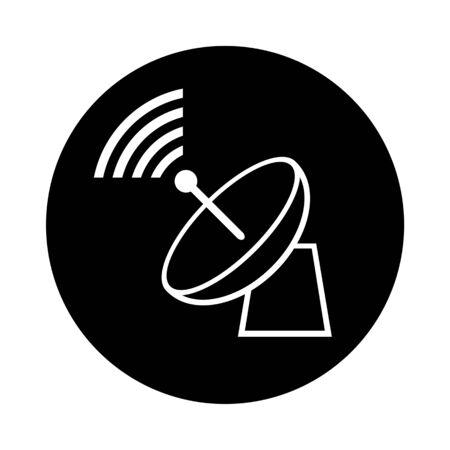 Mark of a parabolic antenna. Stock Photo