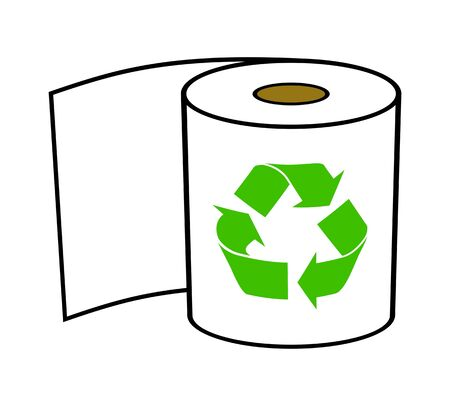Recycling image of toilet paper.