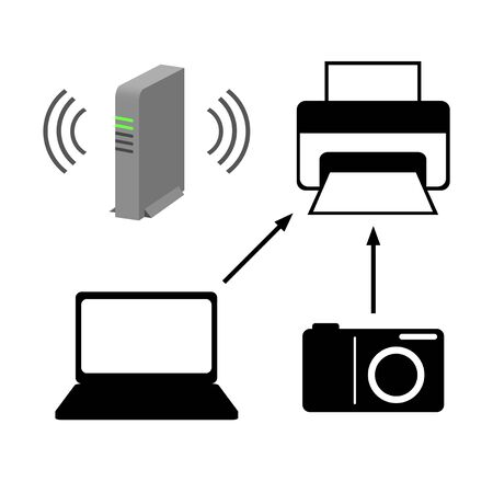Image of a wireless printer.