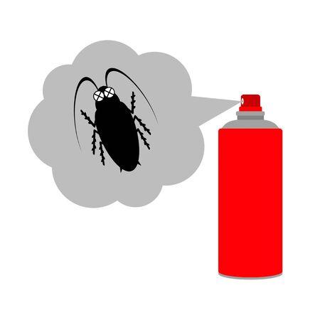 A cockroach dies of bug spray.