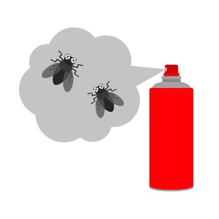 A fly dies of bug spray.
