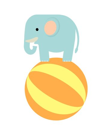 The elephant which does balancing on a ball Stock Photo - 130811291