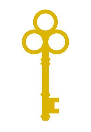 One old-fashioned key.