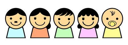 Five person family