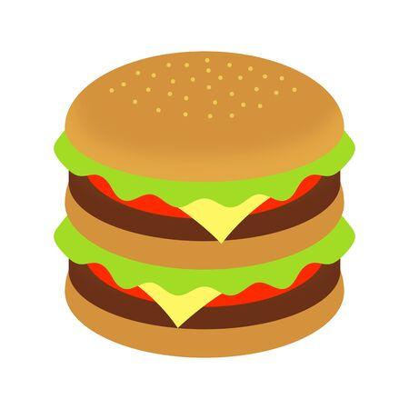 Double cheeseburger Banco de Imagens