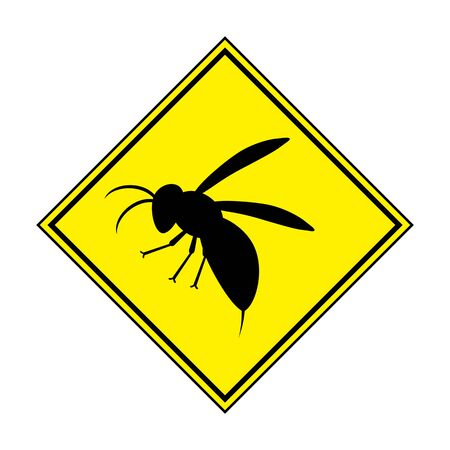 Attention mark on hornet. Banco de Imagens