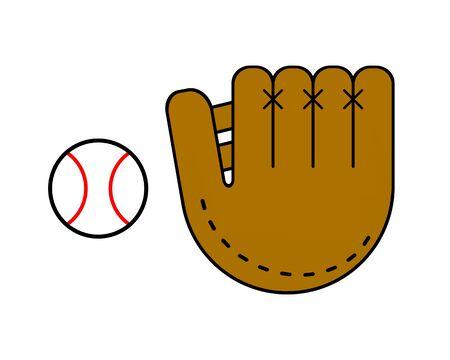Baseball glove and ball 写真素材
