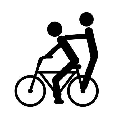 Bicycle riding two people Фото со стока
