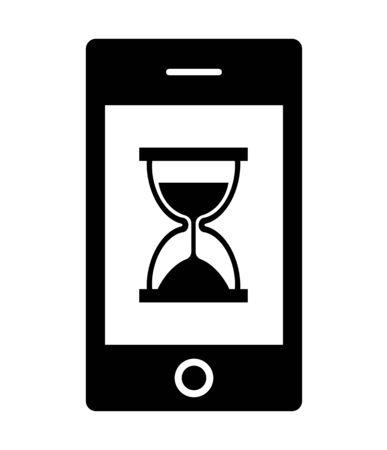 Smartphone screen hourglass