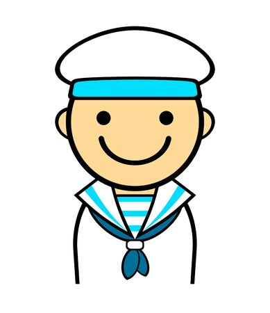 The character of the sailor. Stockfoto