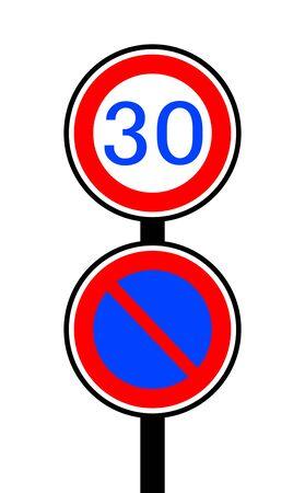 Sign of speed limit Фото со стока