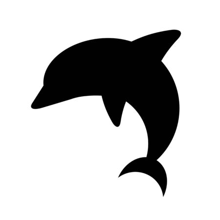 The silhouette of the dolphin.