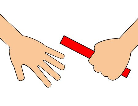 Image of a baton relay.