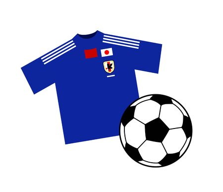 Soccer ball and a uniform