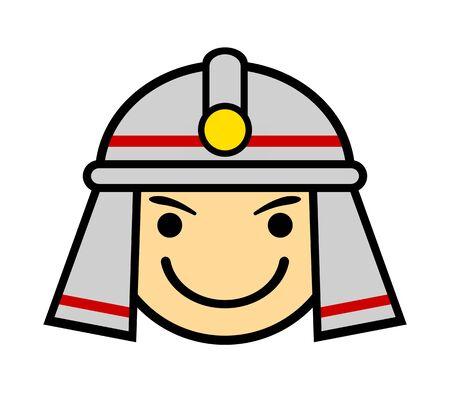 Firemans facial icon. Stockfoto