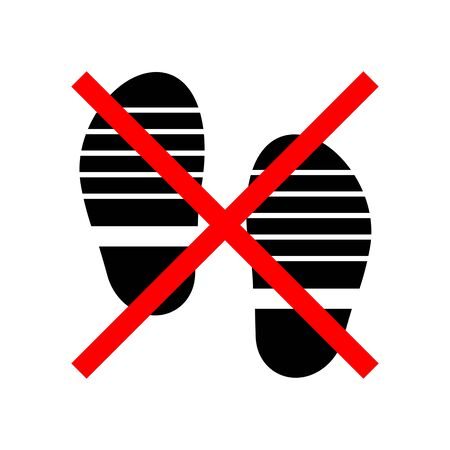 Prohibited of wearing shoes