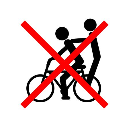 Do not ride two people on a bicycle. 写真素材